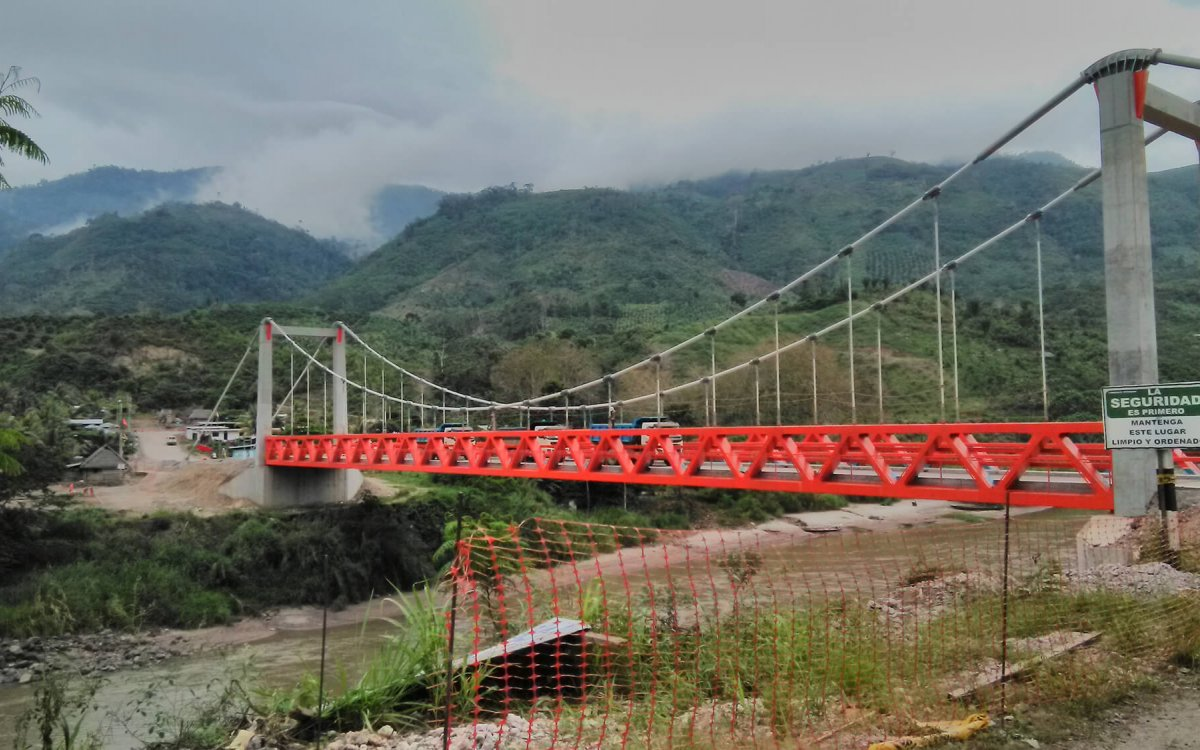 Suspension Bridge over the Perene river