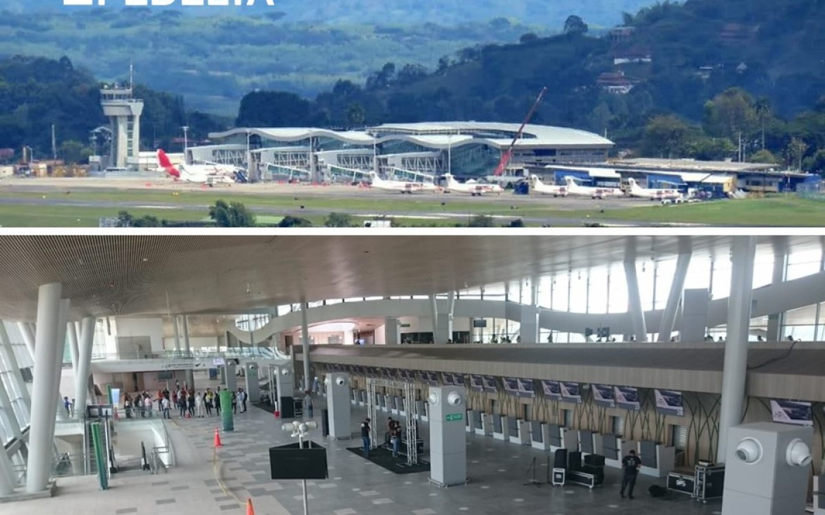 Inaugurated the new passenger terminal at Pereira airport