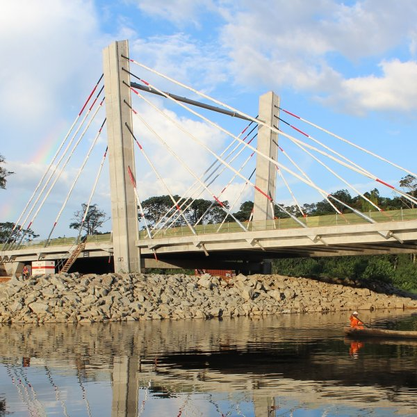 Three Cable-Stayed Road Bridges in Oyala