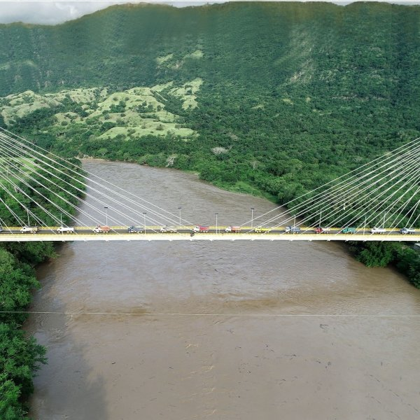Honda Cable-Stayed Road Bridge over the Magdalena River
