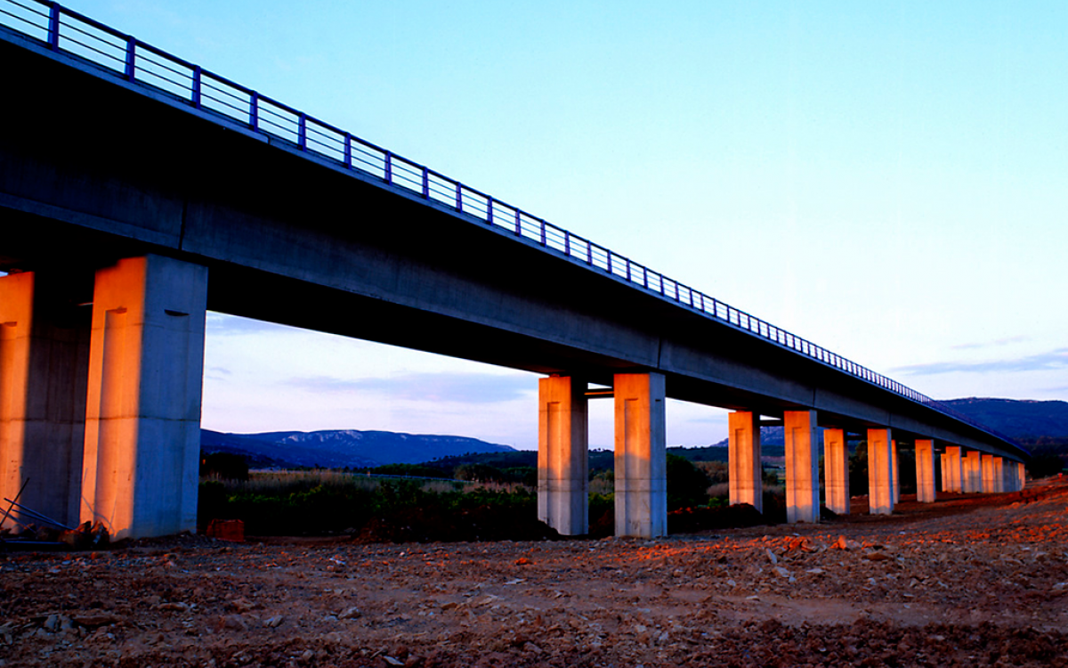Montblanc HSR Viaducts over the Anguera River