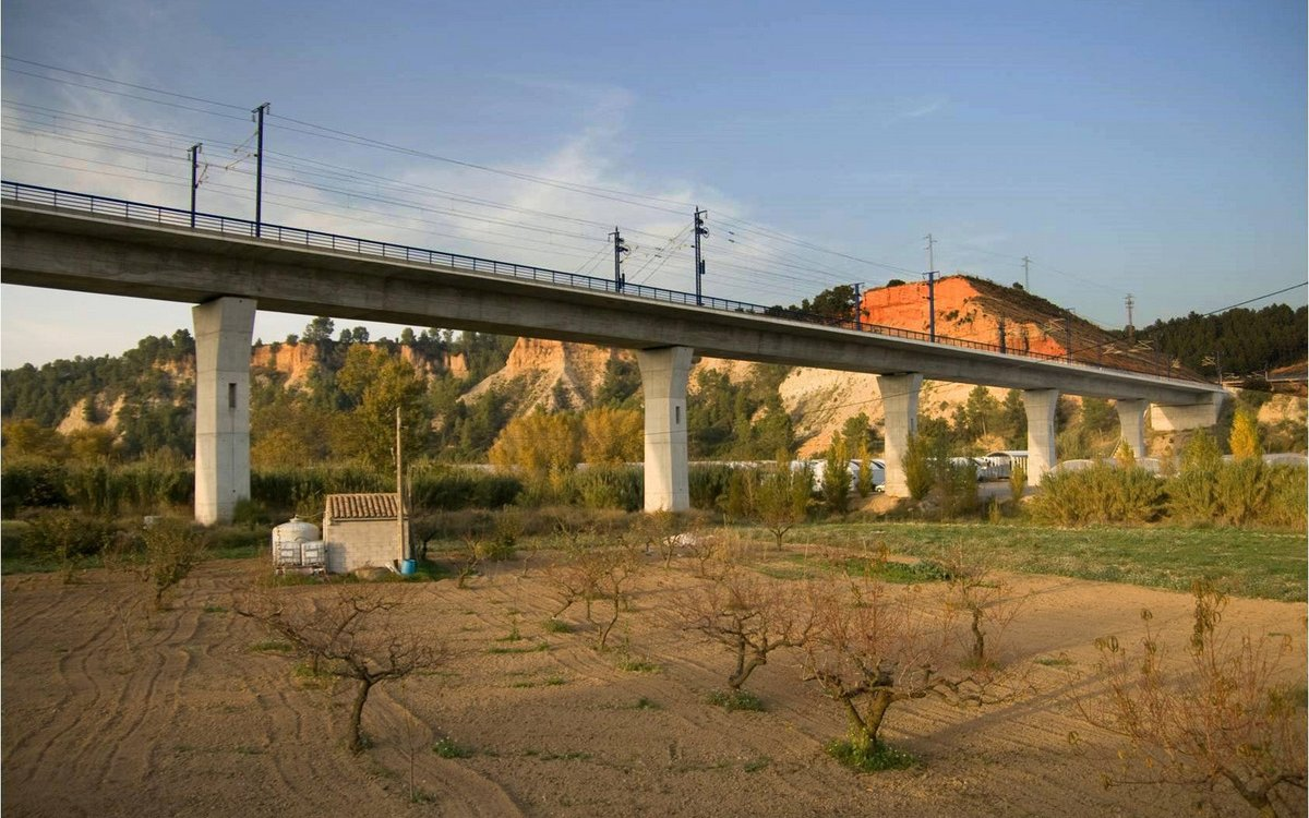 Sant Sadurní HSR Bridges over the Anoia River