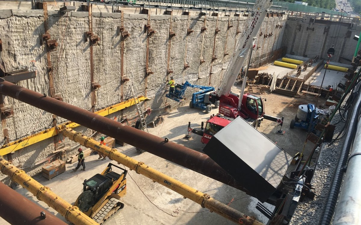 Tieback Removal of East Portal Launch Shaft 3