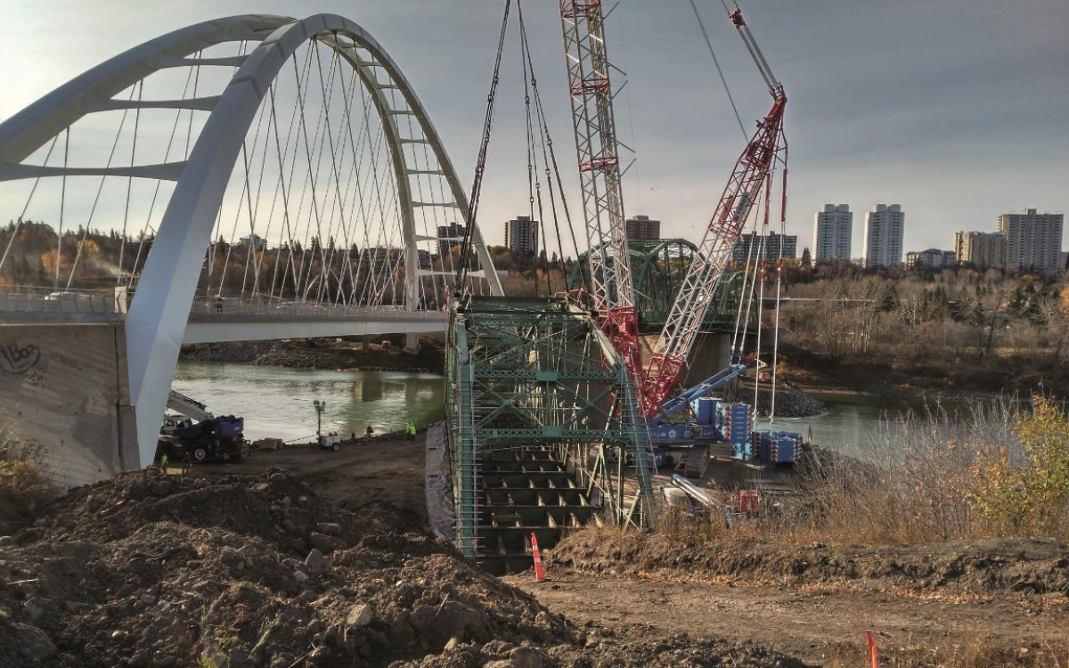 Old Walterdale Bridge Demolition